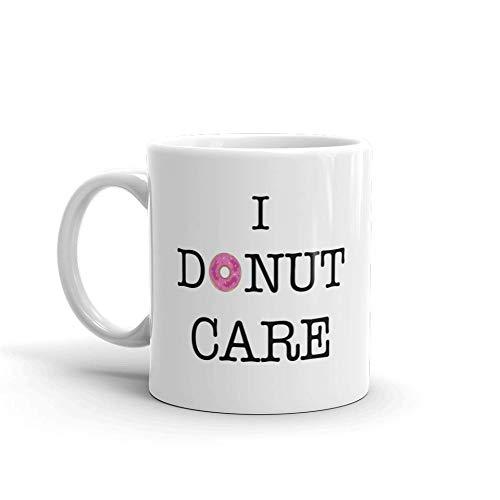 Donut Care humoristique Humore en céramique blancs de 311,8 gram en verre Café Thé Mug Tasse