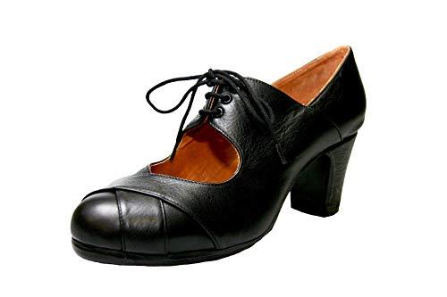 Menkes Zapato Flamenco Modelo Debutante Calé Piel con Clavos para Mujer Talla 41 Negro