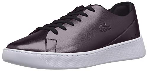 Lacoste Women's EYYLA Sneaker, Metallic/Black, 5.5 M US