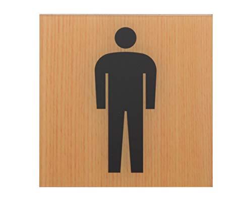 光 プレート ウッドライクマットシリーズ 「 トイレマーク ( 男性用 )」 メープル 約縦10×横10×厚さ0.2cm
