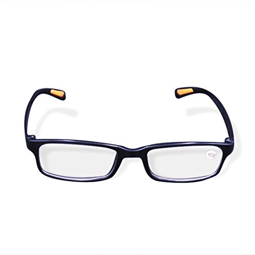 Bluelover Tr90 Portable Durevole Leggero Resina di Lettura Occhiali Neri Estremamente Flessibile - 3,0