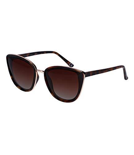 TOSH Sonnenbrille in Schildpatt-Optik und mit goldfarbenen Details für Damen, Linsen-Kategorie 3 (1000232)