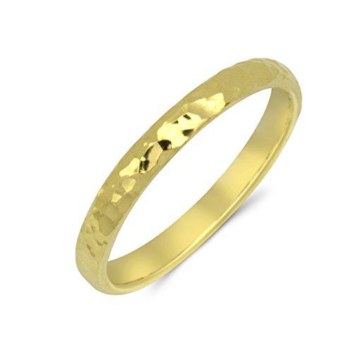 Goldring 585 Gold Massiv Gelbgold 14 Karat Damen Band - Ring - Vorsteckring - Ehering Gr 48 bis 62 2,5mm (52 (16.6))
