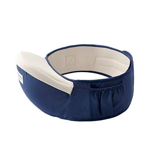 Ainomi - Asiento de Cintura Portabebés con Hebilla Fuerte Cinturón para Bebés 1 a 36 Meses Taburete de Cadera de Niñas Niños Pequeños para Descompresión de Mamá Azul Oscuro