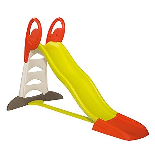 Smoby 310261 – XL Doppel-Wellen-Rutsche – Große Rutsche mit Wasseranschluss, 2,30 Meter lang, mit Rutschauslauf, Verstrebung, für Kinder ab 3 Jahren