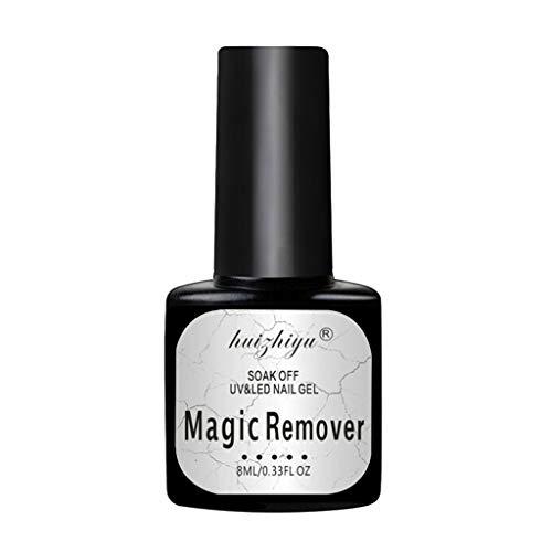 Professionele Magic Nagellak Remover Snel, Lost Cleanser Nail Natuurlijke Barstende Verwijdering Wraps Vloeistof Voor Gelvernis UV Nagel 8ML