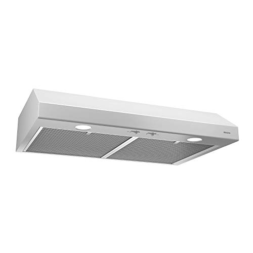 Broan-NuTone BCSD136WW Exhaust Fan for Under Cabinet Glacier Range Hood with Light, White, 36-inch