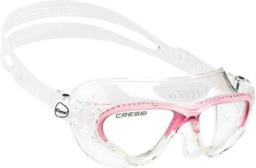 Cressi Cobra Gafas de natación, Mujer, Transparente/Rosa, Talla única