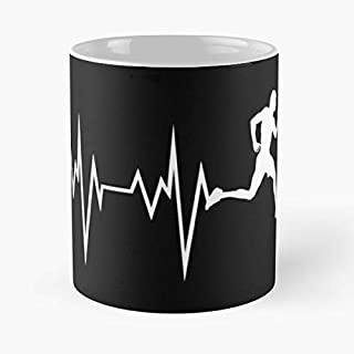 Heartbeat Of Runner - Fun Health Activity Classic Mug Coffee Tea And Cup Gift 11 Oz Best Mugs For Choose