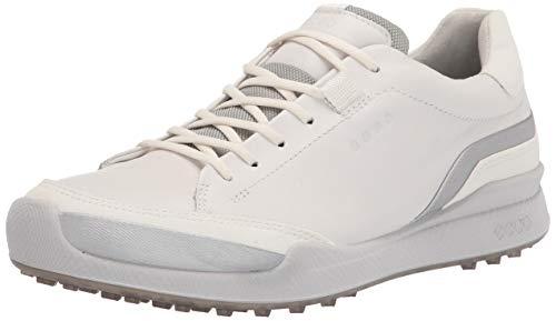 ECCO BIOM Hybrid, Chaussure de Golf Homme, Blanc argenté Blanc, 44 EU