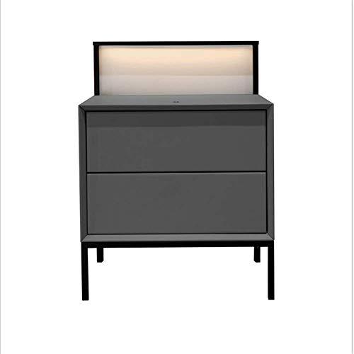FTFTO Accesorios para el hogar Mesita de Noche Minimalista Moderna nórdica Muebles de Dormitorio Mesita de Noche Minimalista Cuero Protección Inteligente para los Ojos Lámpara de Noche B