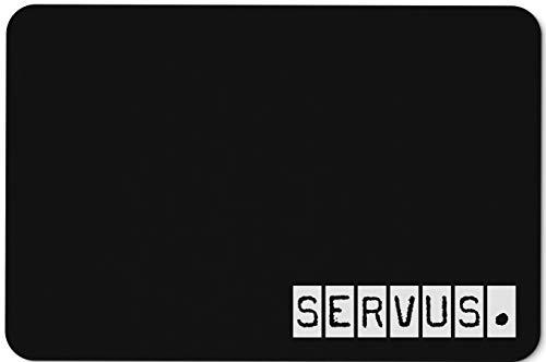 Tassenbrennerei Fußmatte mit Spruch Servus - Fußabtreter lustig, Türmatte waschbar - Originelles Geschenk für Bayern