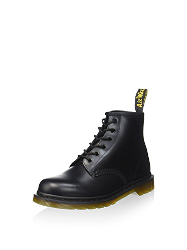 Dr. Martens 101 Smooth 6 Eye Boot , Stivaletti Unisex Adulto, Nero, 43