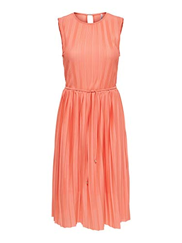 ONLY Damen Kleid Plissee LTerra Cotta