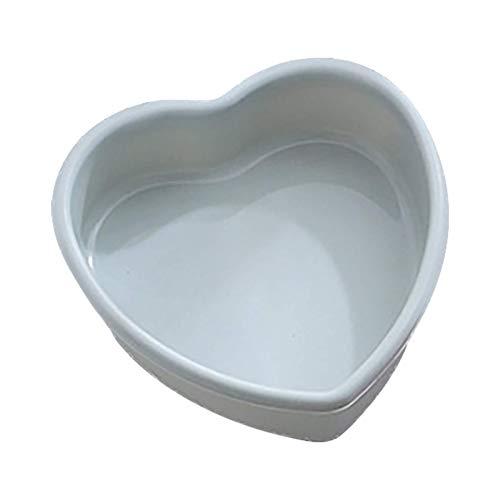 Molde para hornear tartas QWET Love en forma de corazón para tartas de 4/7/9/10 pulgadas, molde de chocolate para mousse, brownie de chocolate, helado, gasa, tarta de queso, fondant (azul, 9 pulgadas)