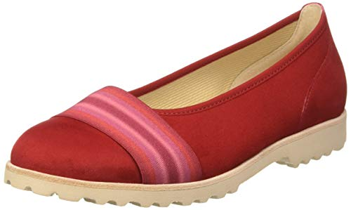 Gabor Shoes Damen Casual Geschlossene Ballerinas, Rot (Cherry Kombi 15), 39 EU