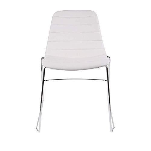YINGGEXU Silla de comedor, sillas de comedor, modernas y minimalistas, sillas de comedor, resistentes al agua, juego de 2 unidades, para salón de restaurante (color blanco, tamaño: 51 x 50 x 84 cm)