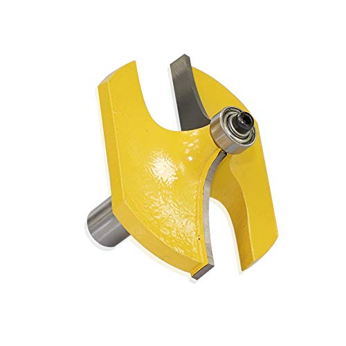 LF&LQEW 1/2' vástago Pasamanos Router bits for la Madera Fresa de carburo Molino de Extremo con el cojinete de la Madera Tenon Cortador (tamaño : 1pcs 12.7x70mm)