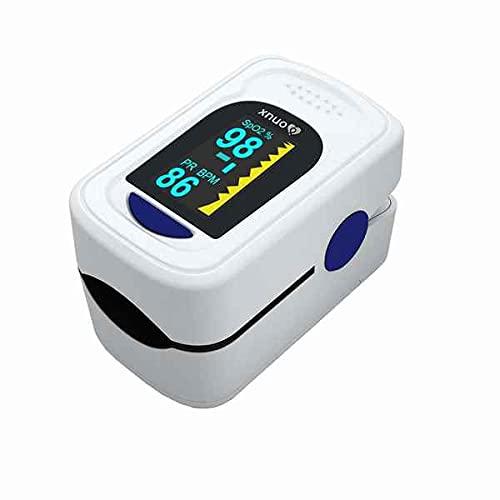 Pulsioxímetro de Dedo, Pulsioximetría Profesional para Adultos y niños, Medidor Saturacion Oxigeno Para uso Doméstico, Precisión Clínica, PI +- 0.2%, CE Médico Aprobado, Pantalla OLED