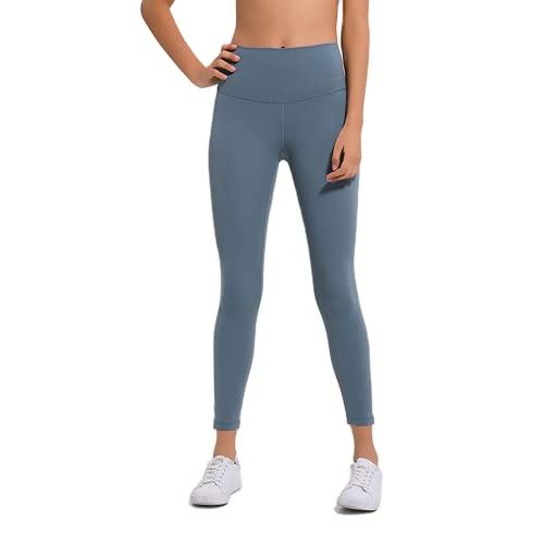 QTJY Pantalones de Yoga Ajustados con Cintura Alta para Mujer, Pantalones Sexis y Suaves para Correr, Pantalones de Entrenamiento para Celulitis, Push-ups, E L