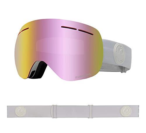 Dragon Alliance X1s Ski Goggles, Medium, White, Whiteout/Luma Pink Ion Lens
