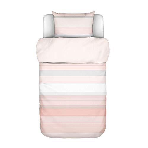 Marc O Polo, biancheria da letto Vaja Coral rosa 1 copripiumino 155 x 220 cm + 1 federa 80 x 80 cm