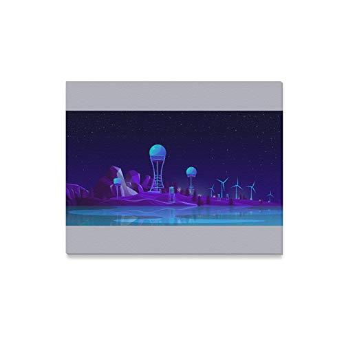 Impresiones en Lienzo Arte de la Pared Generación de energía renovable Concepto de Dibujos Animados Vector Enmarcado Lienzo Arte de la Pared Arte Decoración para la Sala de Estar, decoración de la ha