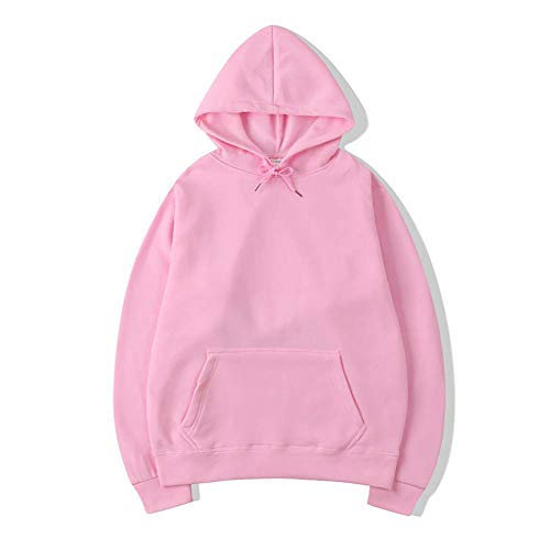 ZHOUJEE Men's Sweater Solid Color Hooded Sweatshirt, White, Yellow, red, Purple, Black, Blue are Available