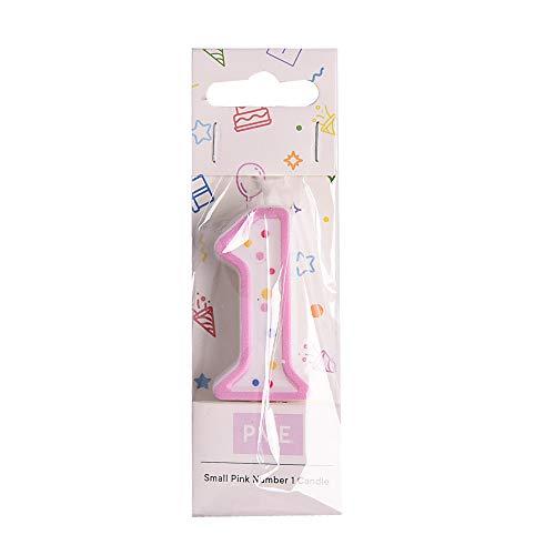 PME CA091 Kerze, Rosa, klein, Kunststoff, Pink, 3.5 x 1 x 4.3 cm