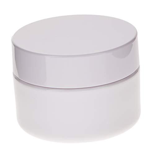 perfeclan En Plastique Cosmétique Cas Ongles Art Maquillage Maquillage Pot à Lèvres Pot Avec Bouchon à Vis Pour Produits De Beauté Et De Bricolage - Blanc