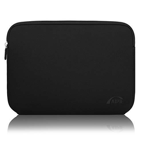 AIPIE Custodia per Laptop 15 15,6 Pollici Sleeve per Laptop Impermeabile Custodia Borsa Caso Protettiva Borsa da Trasporto per MacBook, Acer, Asus, Dell, HP (Nero, 15,6 Pollici)