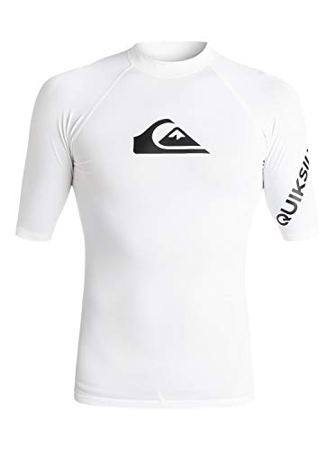 Quiksilver EQYWR03136_L Surf tee, Hombre, White