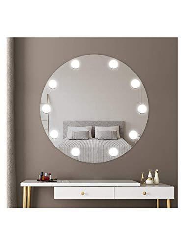 CustomGlass Espejo Hollywood de Pared Redondo con iluminación led Maquillaje peluquería con Forma Circular (Redondo 80 cm)