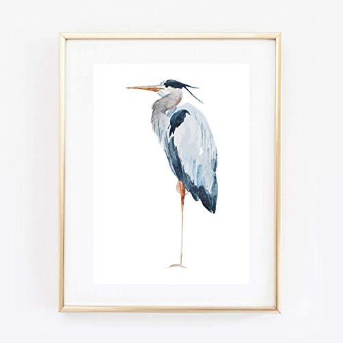 Din A4 Kunstdruck ungerahmt - Fischreiher Reiher Vogel Graureiher grau Geschenk Druck Poster Bild