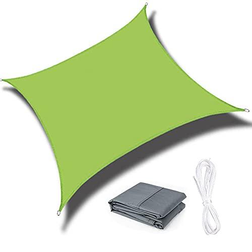 QINZC Toldo De Vela Solar Impermeables Exterior Toldo Vela Parasol Cuadrado 3.6x3.6m ProteccióN Rayos UV Transpirable para Patio JardíN Terraza BalcóN,Verde