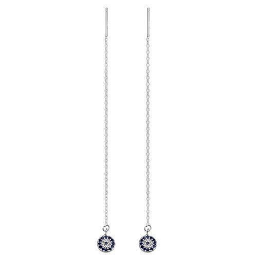 YAZILIND Retro Devil's Eye Ohrringe 925 Sterling Silber Ohr Linie Ohrring für Frauen Threader Edlen Schmuck