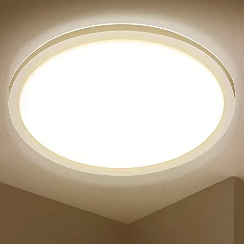 LED Deckenleuchte Rund, Ø420×25mm, BIGHOUSE 24W 2200LM Flach Deckenlampe, 3000K Warmweiß für Badezimmer, Wohnzimmer, Balkon, Flur Küche