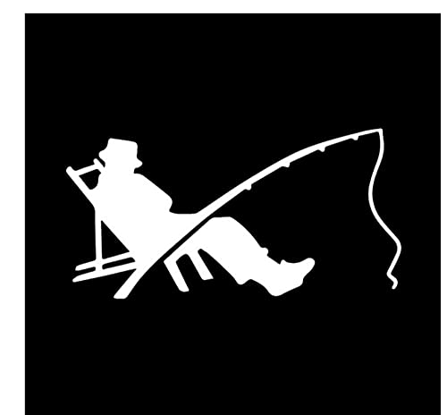 MDGCYDR Pegatinas Personalizadas Coche 15,9 Cm * 8 Cm Pescador Pescador Pesca Gusano Mordida Gancho Etiqueta Engomada del Coche Decoración Vinilo Calcomanía Negro/Plata