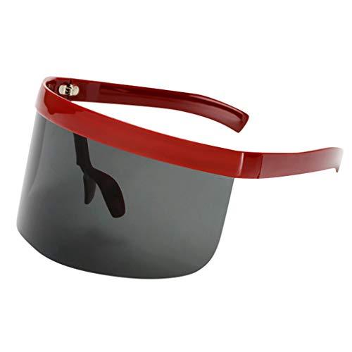 Xniral Einteilige Sonnenbrille Staubdicht Winddicht Sonnenschutz Sonnenschutzbrille für Radfahren, Wandern, Angeln(Grau)