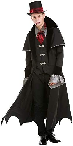 Victorian Vampire Halloween Costume for Men Classic Dracula Attire Large product image