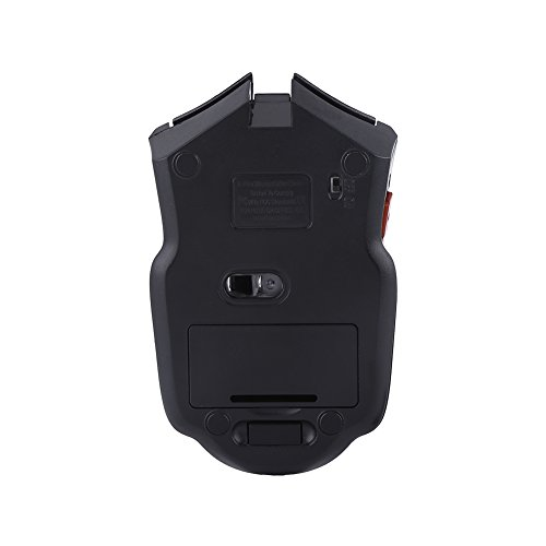 Mouse inalámbrico para Juegos, Mouse inalámbrico liviano, portátil Inteligente Que Ahorra energía para computadora PC(Rojo)
