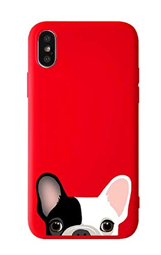 FancyCase Compatible with iPhone XR-New Cute Animal Pattern Soft TPU Protective iPhone XR Case by Fancy Case (Red Dog)