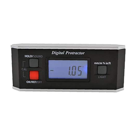 Level Winkelmesser Digitaler Winkelmesser Inklinometer Finder V Groove-Hintergrundbeleuchtung IP65 Wasserdicht Schwarz Professionelle Mess