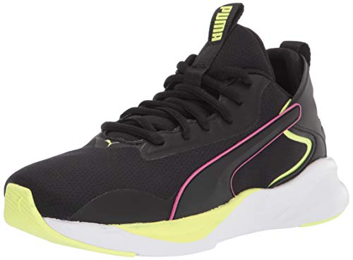 PUMA Damen Softride Rift Crosstrainer, Schwarz (Puma Black-Fizzy Yellow), 38 EU