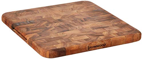 Ironwood Oslo End Grain Square Utility Board, One Size, Acacia Wood