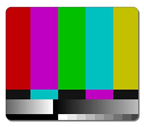 Mauspad Tv-Testmuster Abstraktes Kunstspiel Personalisiertes Bürocomputer-Rechteck Längliche Mausmatte 25X30Cm Mousepad Rutschfeste Mode Bedrucktes Benutzerdefiniertes Gummi
