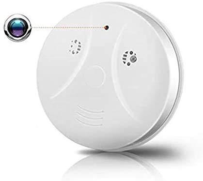 FiveSky HD 1080P Camara Espia WiFi Humo con cámara WiFi Mini Alarma de Humo Inteligente Nanny Camcorder Detección de Movimiento con Control Remoto del iOSAndroid