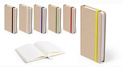 Pack de 20 bloc de notas con portada resistente, material Kraft, contiene 100 hojas. Libretas tamaño bolsillo. Muy económicas. Libretita para regalo, detalles bodas, bautizos o comunión.