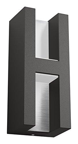 Philips 1735193P0 SHADOW Applique Aluminium/Inox Anthracite 9,5 x 7,7 x 22,4 cm