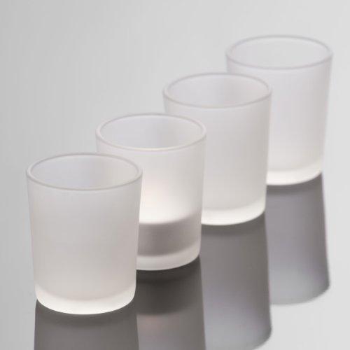 Teelichthalter gefrosted 6,5cm